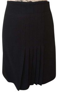 Moschino Vintage 90s Pleated Mini Mini Skirt Black
