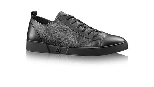 Grey Monogram Leather Match Up Sneakers