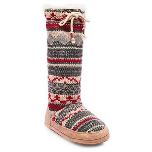 Mad Love grey / red multi color Boots