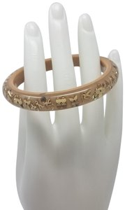 Louis Vuitton Tan resin lucite Louis Vuitton crystal LV narrow Inclusion bangle