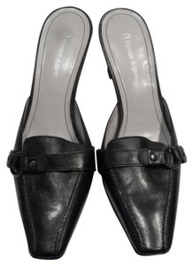 Etienne Aigner Leather Dress Career Dress Black Mules