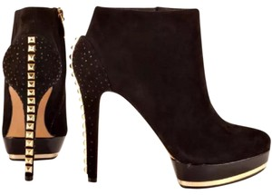 Vince Camuto Black/Gold Boots