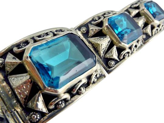 Preload https://item5.tradesy.com/images/silver-blue-mexican-vintage-sumptuous-topaz-sterling-bracelet-2184384-0-2.jpg?width=440&height=440