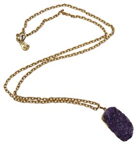 Yochi Purple and Gold Long Chain Necklace