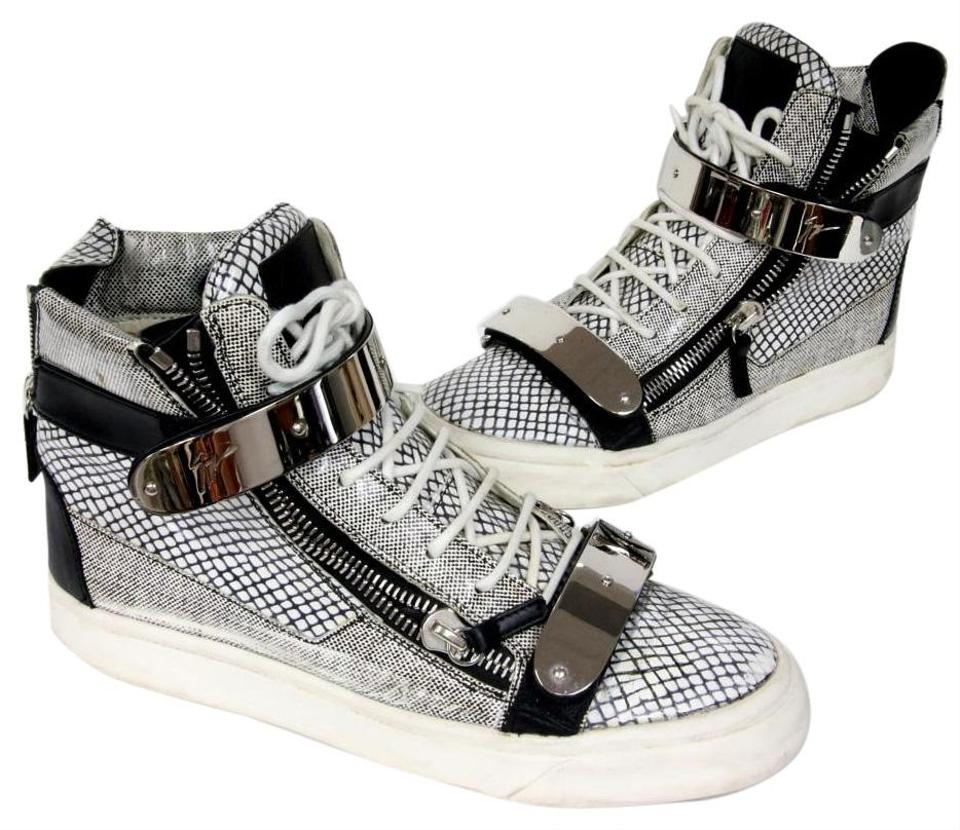 b49976926a6 Giuseppe Zanotti Gray Leather with Chrome Hardware 40 Sneakers Size US 8  Regular (M, B) 80% off retail