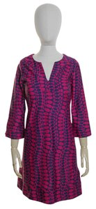 Jude Connally short dress Pink Knit 3/4 Sleeve Printed on Tradesy