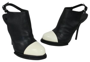 Alexander Wang Cap-toe Dosha Monogram Tuxedo Runway Black and White Mules