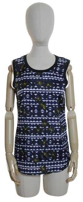 Item - Black Multi Factory Printed Panel-front Blouse Tank Top/Cami Size 2 (XS)