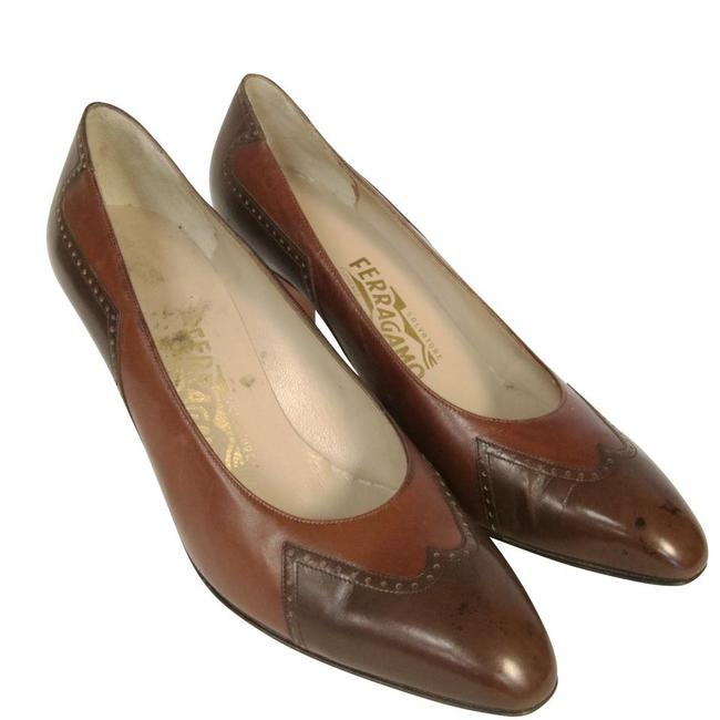 Item - Brown Two Tone Western Style Pumps Size US 8.5 Narrow (Aa, N)