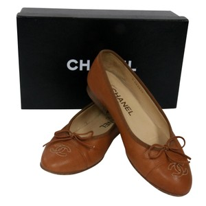 Chanel Espadrille Shopper Quilted Cambon Reva Brown Flats