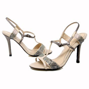 Fendi Monogram Zucca Graffiti Swarovski Diamond Beige Pumps