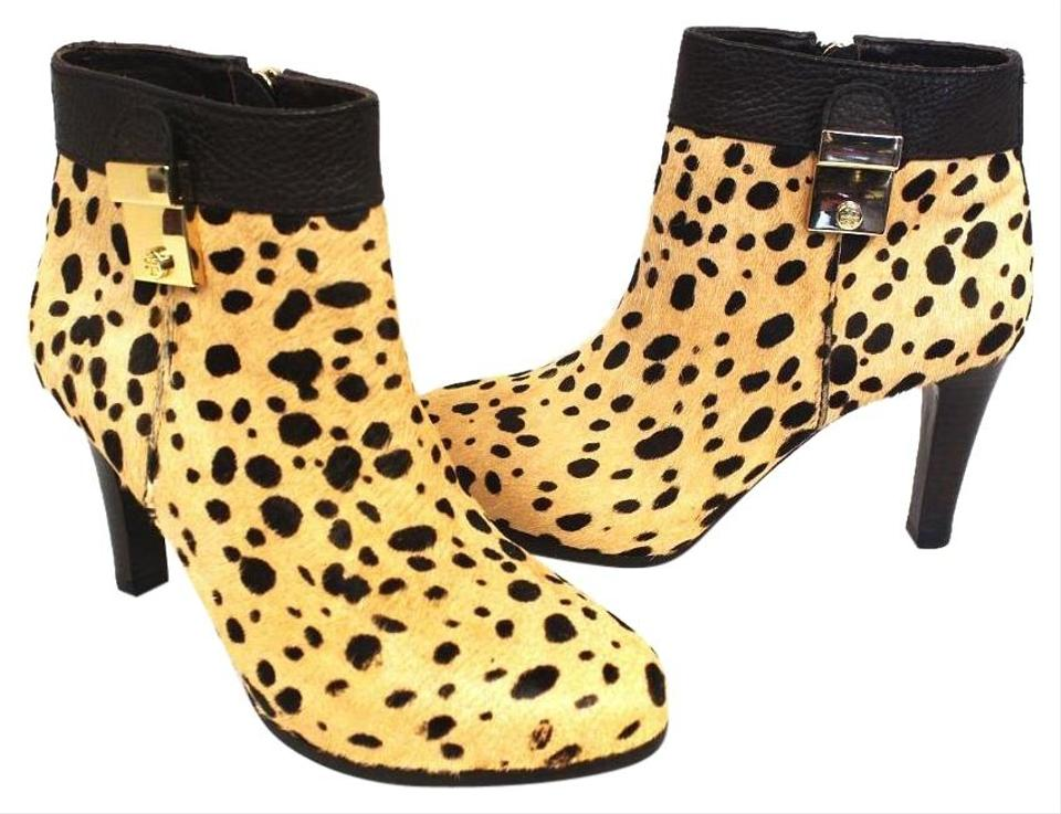 f513e1adf27 Tory Burch Leopard Rockstud Ankle Boots Calf Hair Limited Pumps Size ...
