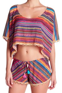 ale by alessandra Scoop Cover Up Beaded Cover Up Embroidered Cover Up Dolman Cover Up Happy Cover Up Top Colorful