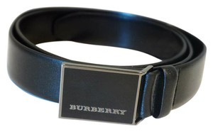 Burberry Plain Leather MOE 30MM Buckle Belt Size 30/75; Made in Italy