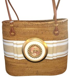 Bosom Buddy Bags Equestrian Nantucket Vintage Gold Plated Classic Baguette