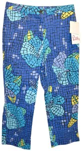 Lilly Pulitzer Cropped Molokini Petite Capris blue