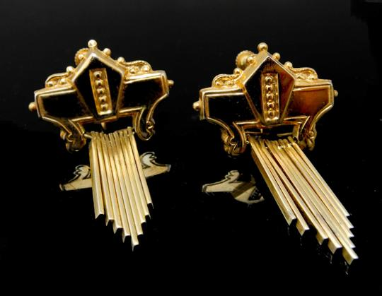 Other Vintage Coro Gold Crest Earrings