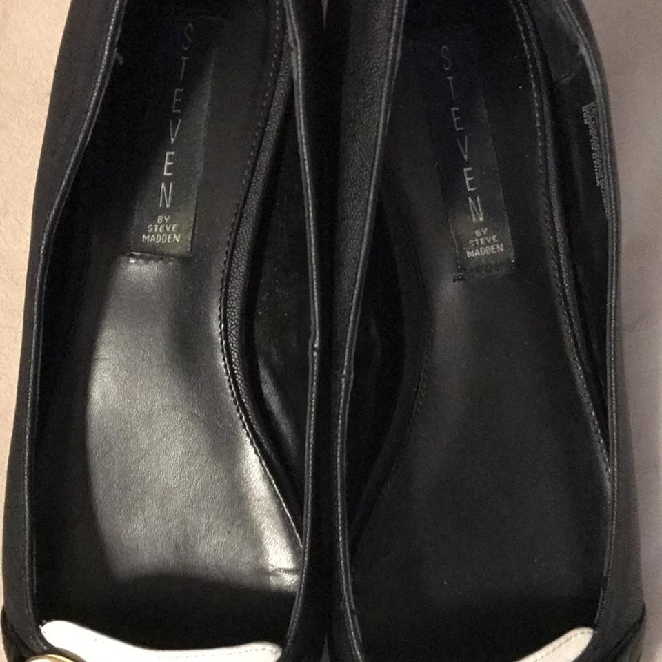 1b52c22efb9 Steven by Steve Madden Black White and Gold Classic Flats Size US 8 Regular  (M, B)