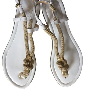 Michael Kors White, natural (rope), gold accent Sandals