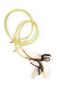 Marni Marni Neon Rope and Floral Shell Tie Necklace