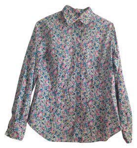 Liberty of London Floral Button Down Shirt Multi-colored