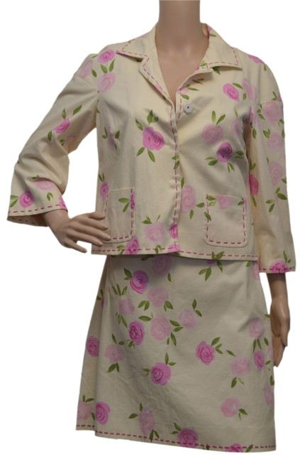 Item - Yellow / Pink / Green Skirt Suit Size 10 (M)