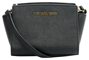 Michael Kors Selma Saffiano Leather Mk Cross Body Bag