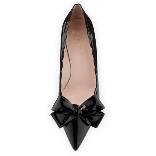 3f7415ff2720 Kate Spade Black Maxine Patent Scalloped Bow Pumps Size US 9.5 ...
