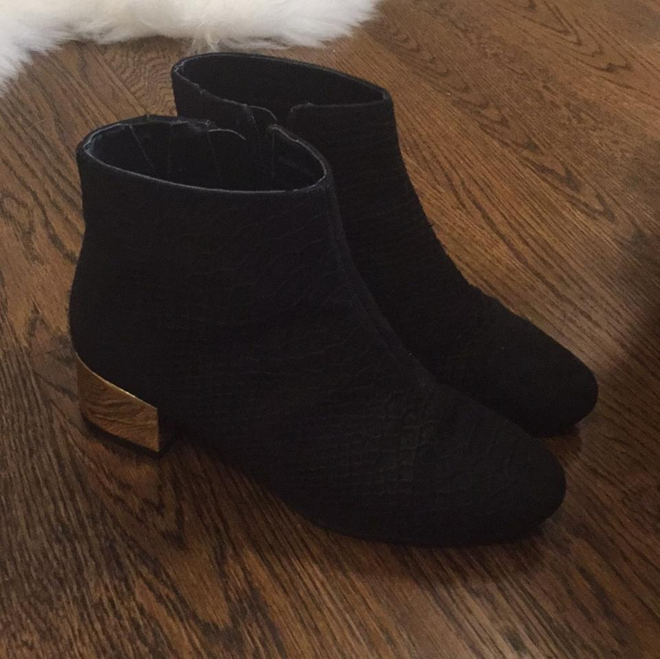 lady Boots/Booties Topshop Black Gold Betty Boots/Booties lady To adopt 0fff5c