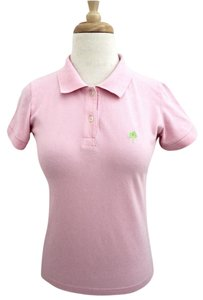 Lilly Pulitzer Polo Short Sleeve Collar Casual Button Down Shirt pink