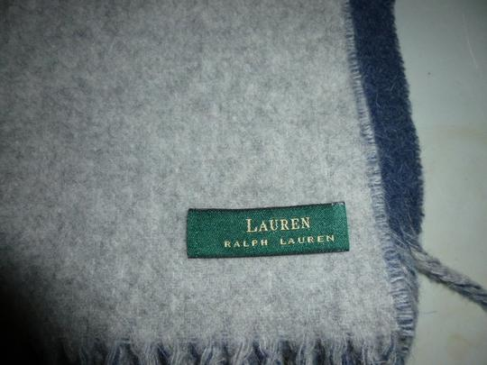 Lauren Ralph Lauren Lauren Ralph Lauren Lambswool Shawl Thick Blue Made in Italy