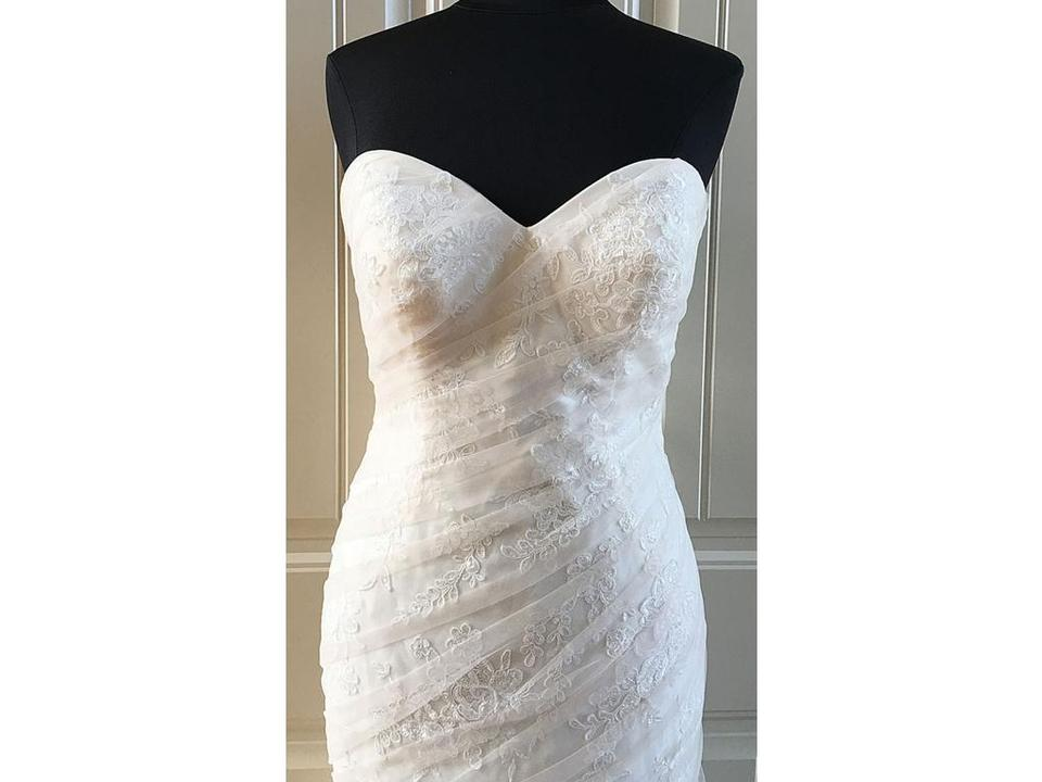 e25f5f43a46 Stella York Ivory Stone   Corset Back Tulle with Lace Applique 6143 Vintage  Wedding Dress Size ...