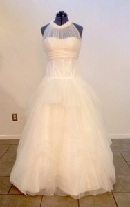 Galina Ivory Tulle and Taffeta Ball Gown Traditional Wedding Dress Size 8 (M)
