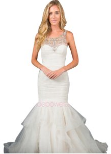 Amsale White Sloane A662 Feminine Wedding Dress Size 2 (XS)