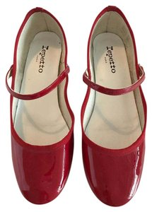 Repetto Patent Leather Mary Jane Red Pumps