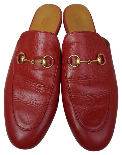 Item - Red Women's Princetown Leather Loafer Mules/Slides Size EU 42 (Approx. US 12) Regular (M, B)