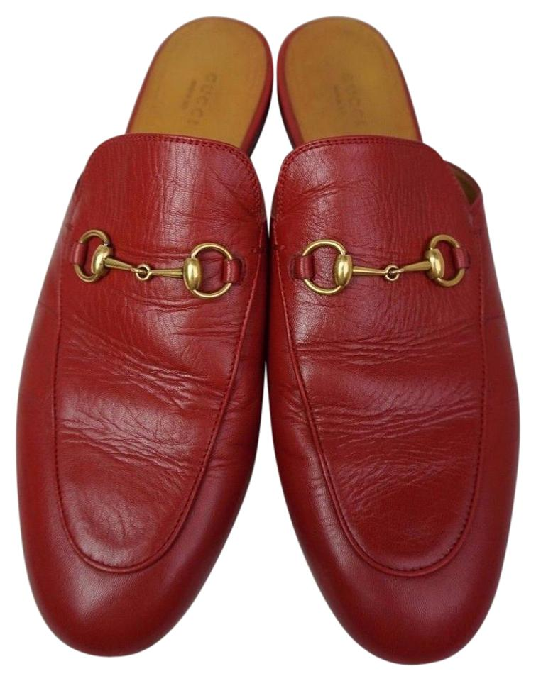 039d0f9be71 Gucci Red Women s Princetown Leather Loafer Mules Slides Size EU 42 ...