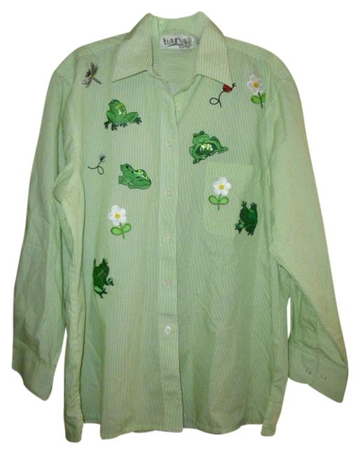 Preload https://item1.tradesy.com/images/womens-frog-shirt-s-small-daisy-bee-dragonfly-ladybug-long-sleeve-button-down-top-size-6-s-2184710-0-0.jpg?width=400&height=650