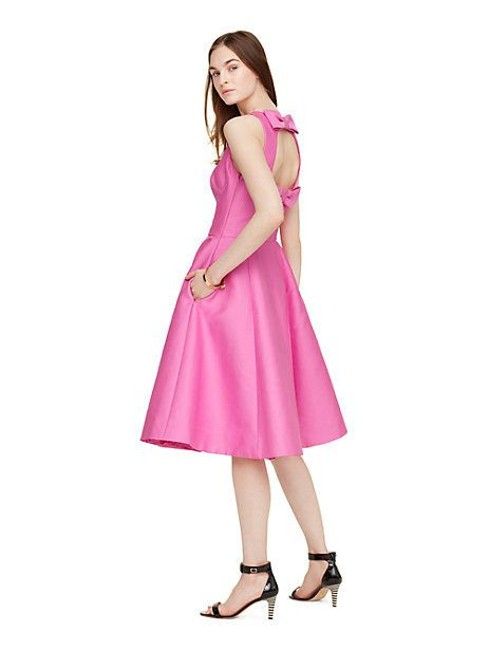 Item - Pink New York Open Back Douple Bow Bnwt Short Cocktail Dress Size 6 (S)