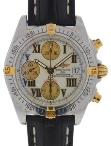 Breitling Breitling B13358 Chronograph Cockpit Automatic Leather Strap Watch