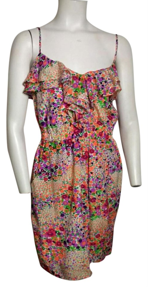 45bfb53facd1b Shoshanna short dress Neon Orange, Purple, Green on Tradesy Image 0 ...