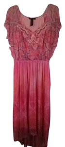 Pink/Coral Maxi Dress by Style & Co Studded Maxi