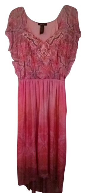 Preload https://item2.tradesy.com/images/style-and-co-pinkcoral-studded-mid-length-casual-maxi-dress-size-12-l-2184771-0-0.jpg?width=400&height=650
