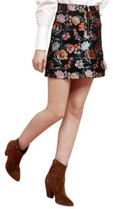Sister Jane Metallic Studded Mini Skirt floral jacquard