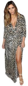 Lanvin Leopard Wrap Gown Dress