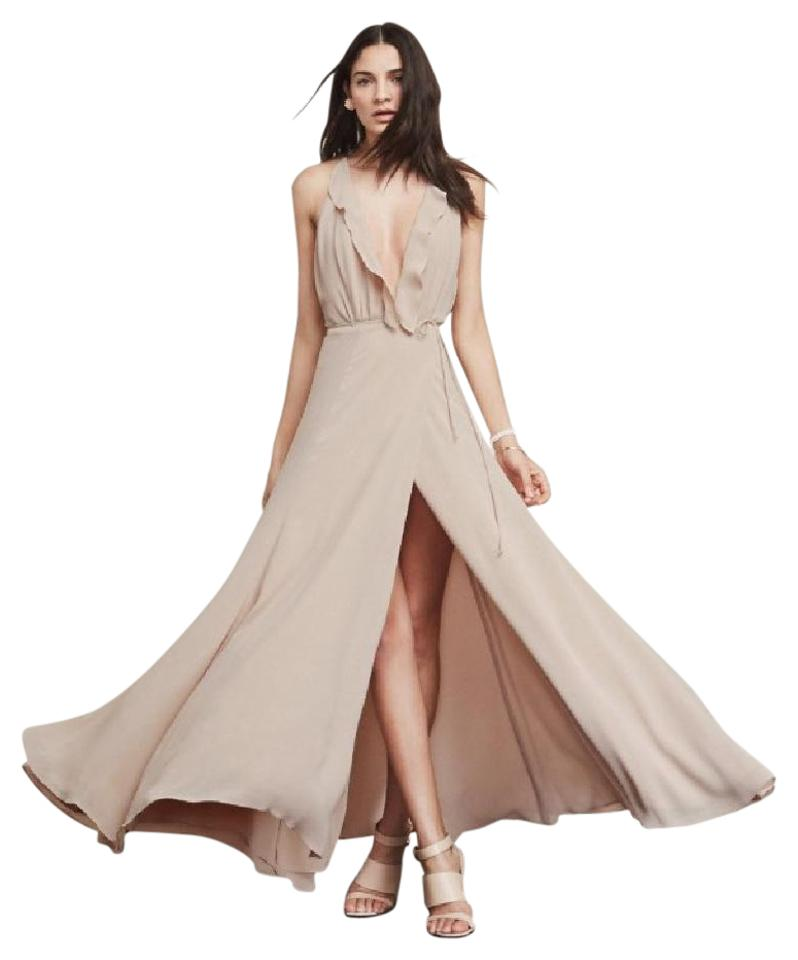 6f527e17609 Reformation Champagne Arabella Maxi Long Formal Dress Size 8 (M ...