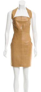 Chanel Leather Mini Gown Dress