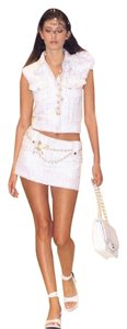Chanel NEW CHANEL RUNWAY SEXY TWEED MINI SKIRT AND VEST TOP SKIRT SET FR 34