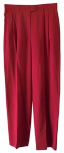 Escada Trouser Pants Red