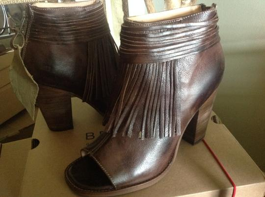 Bed|Stü Olivia Fringed Red Leather Boho Brown Rustic Boots Image 2